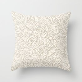 Watercolor abstract dotted circles neutral beige Throw Pillow