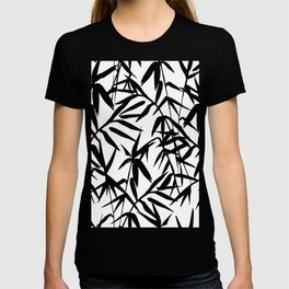 Black and White Watercolor Bamboo Seamless Pattern T-shirt