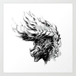 King of Darkness Art Print