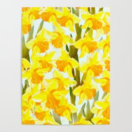 Spring Breeze With Yellow Flowers #decor #society6 #buyart Poster