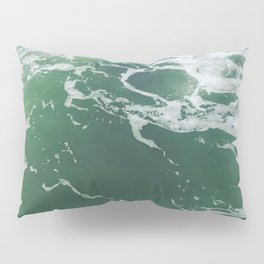 Sea Foam Green Ocean Wave Photograph Pillow Sham