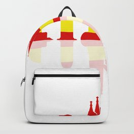 Barcelona skyline Backpack