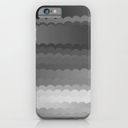 Gray Waves iPhone Case