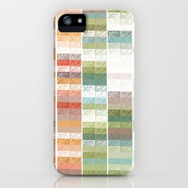 Lily pattern iPhone Case