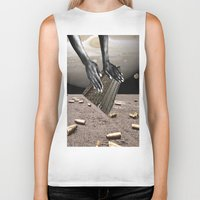 architect Biker Tanks featuring Dead Architect by DadaSoulFace