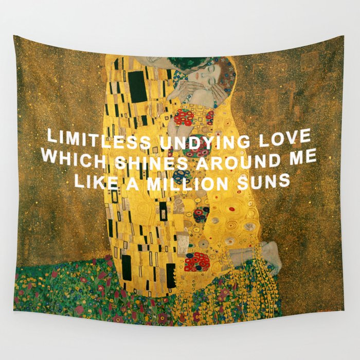 The Kiss Across the Universe Wall Tapestry by beatlesarthistory ...
