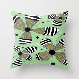 FLOWERY SOPHIE  / ORIGINAL DANISH DESIGN bykazandholly Throw Pillow