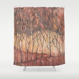 Arboles de otoño (Autumn trees) Shower Curtain