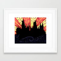 hogwarts Framed Art Prints featuring Hogwarts by Samantha Mask