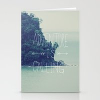 island Stationery Cards featuring Adventure Island by Leah Flores