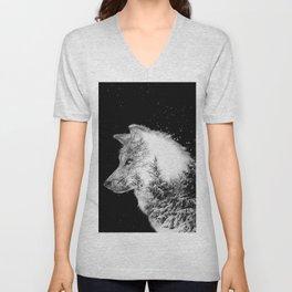 Winter Wolf Unisex V-Neck