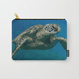 Sea Turtle Ocean blue Water Carry-All Pouch