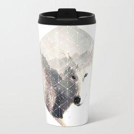 bad white wolf Travel Mug