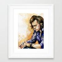 harry Framed Art Prints featuring HARRY by Seefirefly