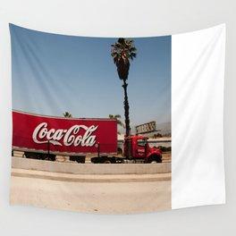 Coke Truck Wall Tapestry