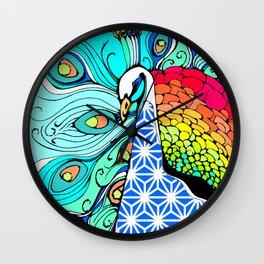 Gypsy Peacock Wall Clock