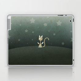 Small winged polka-dotted beige cat and stars Laptop & iPad Skin