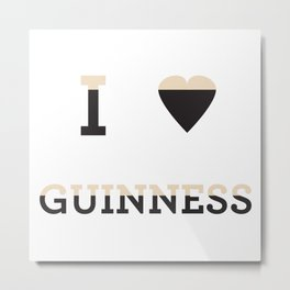 I heart Guinness Metal Print