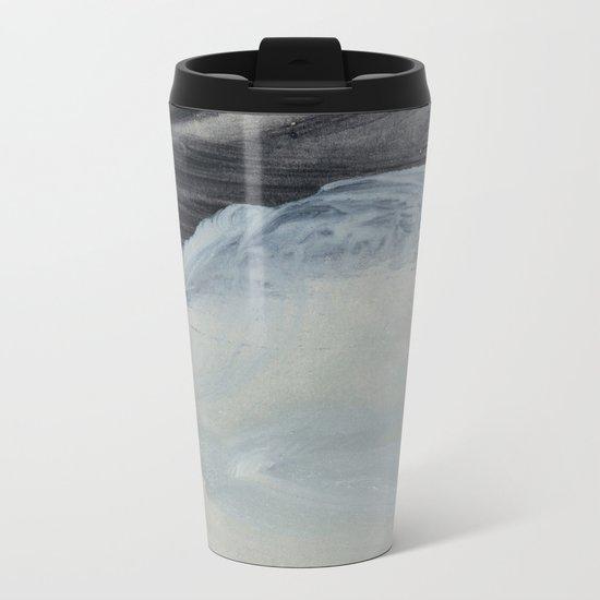 minimal brushstrokes 1 Metal Travel Mug