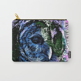 Rainbow Barred Owl Carry-All Pouch