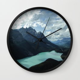 Blue Lake Wall Clock