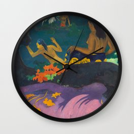 Fatata te Miti, Paul Gauguin, 1892 Wall Clock