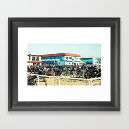 Bicycle Parking Lot Framed Art Print