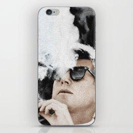 Cigar Smoker Cigar Lover John F Kennedy Gifts Black And White Photo Tees iPhone Skin