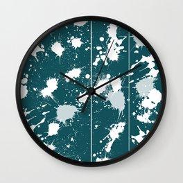 demin splatter 2 Wall Clock