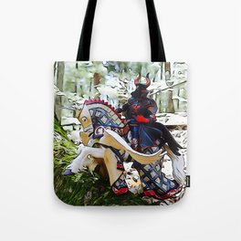 Gallant knight upon Pegasus Tote Bag