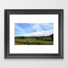 Mountians Framed Art Print