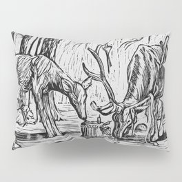 Two Deer Crash A Party Pillow Sham