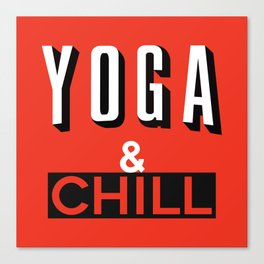 Yoga & Chill Canvas Print