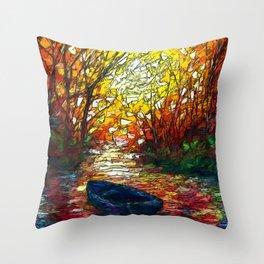 OLena Art, sunset, landscape, artwork, artistic, impressive, illustration, painting, sceni OLena Art Throw Pillow