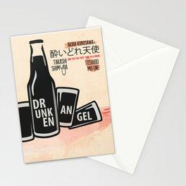 Drunken Angel, Akira Kurosawa, minimalist movie poster, Toshiro Mifune, japanese film, Yakuza Stationery Cards