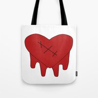 gravity falls Tote Bags featuring Gravity Falls - Robbie by Kayla Phan