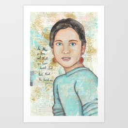 He Loved Us by patsy paterno Art Print