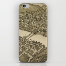 Vintage Pictorial Map of Fairmont WV (1897) iPhone Skin