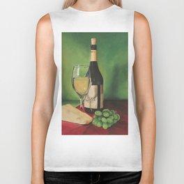White wine, Still life Biker Tank