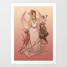 The Alderaan Rose Art Print