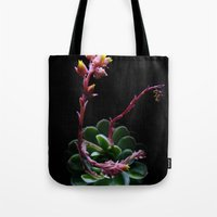 succulent Tote Bags featuring Succulent  by Nimai VandenBos