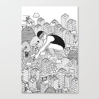 diver Canvas Prints featuring Diver by millo