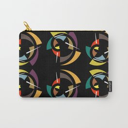 Swirling Shapes And White Sticks On Black Carry-All Pouch