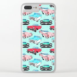 Retro Fins + Fenders in Mod Mint Clear iPhone Case