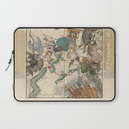 Ignace-Gaston Pardies - Globi coelestis Plate 6: Centaurus, Indus, Chamaeleon and other constellatio Laptop Sleeve