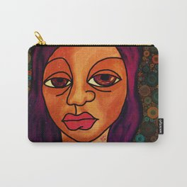 Brown Girl Blue Carry-All Pouch