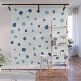 BLUE DOTS Wall Mural