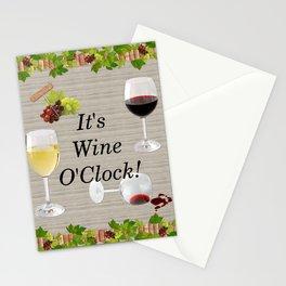 It's Wine O'Clock Stationery Cards