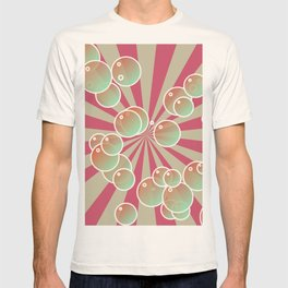 Bubbles on radial background T-shirt