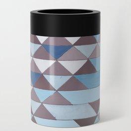 Triangle Pattern No.6 Crisp Blue Can Cooler